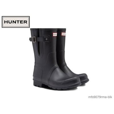 ハンター HUNTER メンズ オリジナル サイド アジャスタブル ショート ブーツ ORIGINAL SIDE ADJ SHORT 国内正規品 メンズ レインブーツ MFS9079RMA-BLK