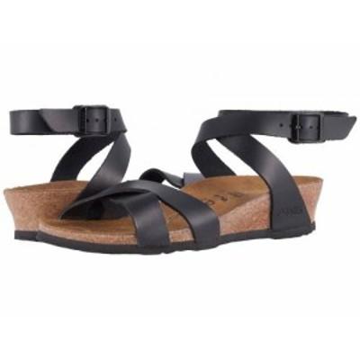 Birkenstock ビルケンシュトック レディース 女性用 シューズ 靴 ヒール Lola by Papillio Black Leather【送料無料】