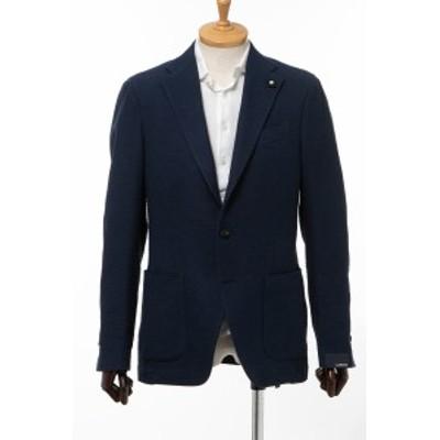 ラルディーニ LARDINI ジャケット シングル サイドベンツ ノッチドラペル 2つボタン EI0557AV EEE50309 3 ネイビー メンズ (0557AV EEE50