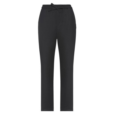 SOLOTRE パンツ ブラック S ポリエステル 62% / レーヨン 35% / ポリウレタン 3% パンツ