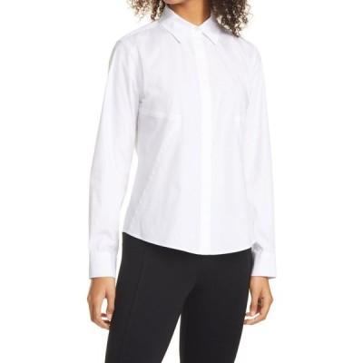 ダナ キャラン ニューヨーク DONNA KARAN NEW YORK レディース トップス Donna Karan Seamed Woven Shirt White