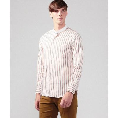 【TOMORROWLAND MENS】ブリティッシュポプリン クレリックバンドカラーシャツ