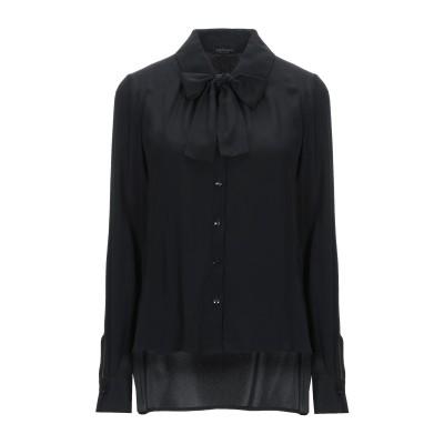 CRISTINAEFFE シャツ ブラック 40 アセテート 76% / シルク 24% シャツ