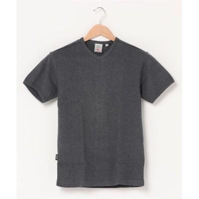 AVIREX Belle / avirex/ アヴィレックス / メンズ / デイリー ミニワッフル V-ネック 半袖 Tシャツ WOMEN トップス > Tシャツ/カットソー
