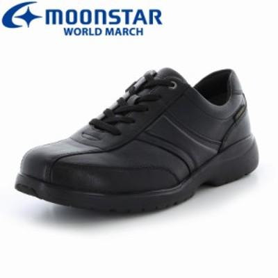 ポイントUP中 送料無料 ムーンスター ワールドマーチ メンズ カジュアルウォーキングシューズ 靴 WM3120IE ブラック 防水 防滑 メンズ4E