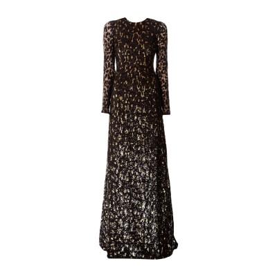 マイケル・コースコレクション MICHAEL KORS COLLECTION ロングワンピース&ドレス ダークブラウン 2 ナイロン 84% / ポ