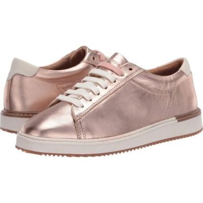 ハッシュパピー Hush Puppies レディース スニーカー シューズ・靴 Sabine Sneaker Rose Gold Metallic Leather
