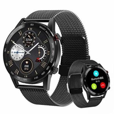 スマートウォッチ 2021最新Bluetooth通話 活動量計 GPS運動記録 歩数計 Line/SMS/Twitter/アプリ通知 音楽再生 IP68防水 メンズ レディー