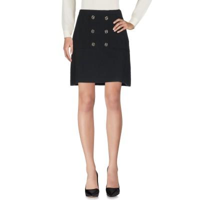 CRISTINAEFFE ひざ丈スカート ブラック 42 レーヨン 68% / アクリル 29% / ポリウレタン 3% ひざ丈スカート