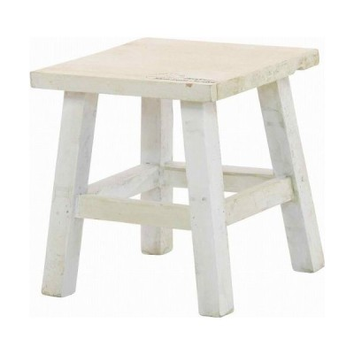 mokuシリーズ『木製フラワースタンド ロースクエア』ITホワイト(#9847300)サイズ:幅21×奥行21×高さ23cm