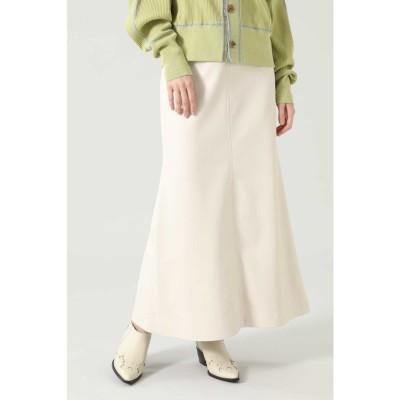 フェイクレザーロングスカート ホワイト