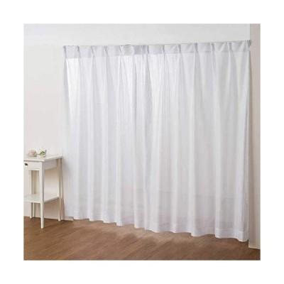 【カーテン専門店】外から見えにくい「ストライプミラーレースカーテン(幅100cmx丈133cm 2枚入り)」 全18サイズ 白 ホワイト <洗える>