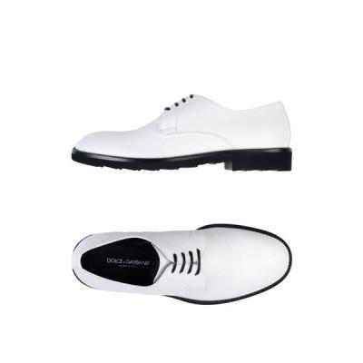 ドルチェ&ガッバーナ DOLCE & GABBANA メンズ シューズ・靴 laced shoes White