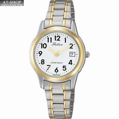 CITIZEN シチズン 腕時計 QQ ファルコン デイト レディース時計 D011-404 シルバー/ホワイト