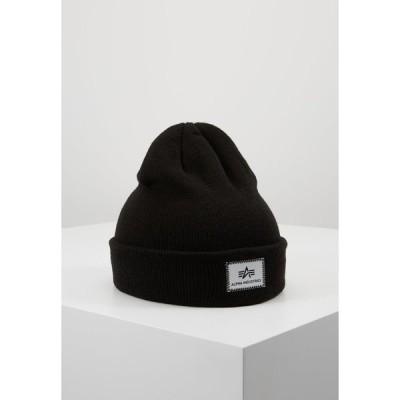 アルファインダストリーズ 帽子 メンズ アクセサリー X-FIT BEANIE UNISEX - Beanie - black