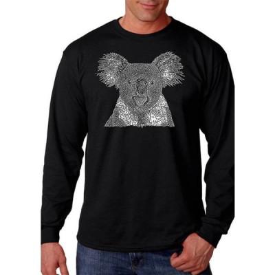 エルエーポップアート メンズ Tシャツ トップス Word Art Long Sleeve T-Shirt - Koala
