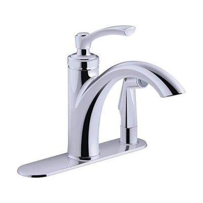 Kohler K-R29671-CP Linwood Kitchen Sink Faucet, Polished Chrome 並行輸入品