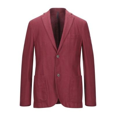 MONTEDORO テーラードジャケット レッド 46 コットン 60% / リネン 40% テーラードジャケット