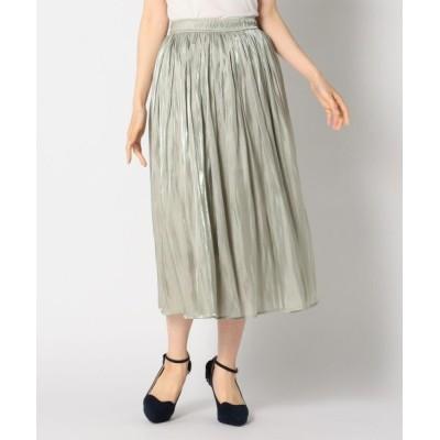 MISCH MASCH / シワ加工プリーツサテンスカート WOMEN スカート > スカート