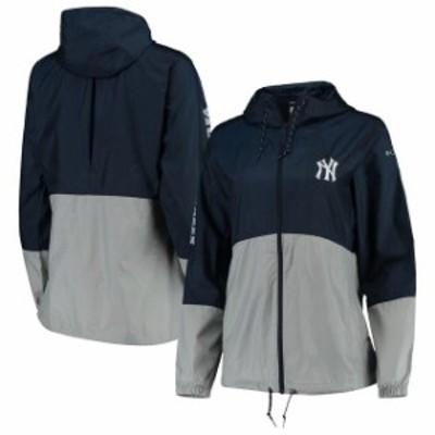 Columbia コロンビア スポーツ用品  Columbia New York Yankees Womens Navy/Gray Flash Forward Windbreaker Jacket