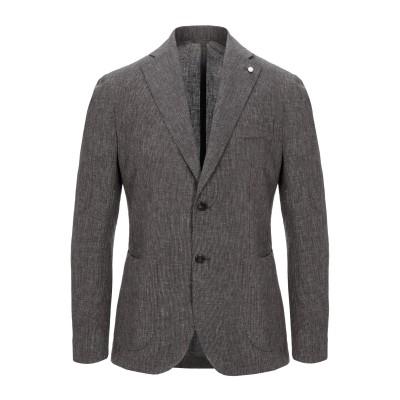 LUIGI BIANCHI ROUGH テーラードジャケット 鉛色 50 麻 56% / コットン 44% テーラードジャケット