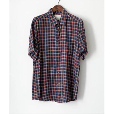 シャツ ブラウス MINS MINIS/ミンス ミニス/チェックレギュラーカラーSSシャツ