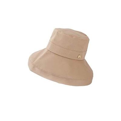 アウレリア コットン ハット レディース シナモン 春 夏 秋 つば広 帽子 日本製 UVカット UPF50+ 16cmタイプ
