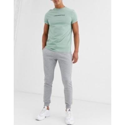 エイソス メンズ カジュアルパンツ ボトムス ASOS DESIGN skinny sweatpants in gray marl Gray marl