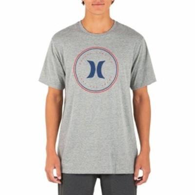 ハーレー Hurley メンズ Tシャツ トップス Circle America Short Sleeve T-Shirt Dark Grey Heather