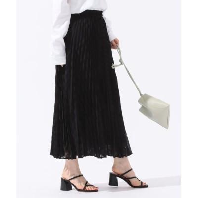 SHIPS for women/シップスウィメン ギンガムチェックプリーツスカート ブラック ONE SIZE