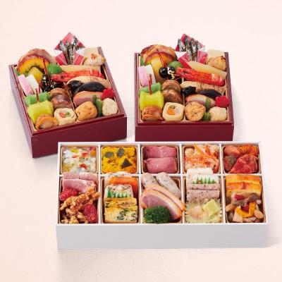 【11月10日まで10%OFF】和の個食おせち&洋風オードブル二段三重(個食)(京都 しょうざん)