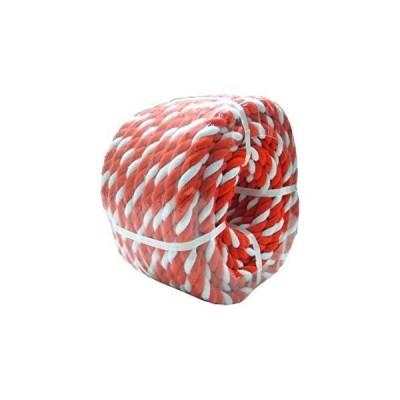 まつうら工業 紅白ロープ 約12mmΦX50m 丸巻パック