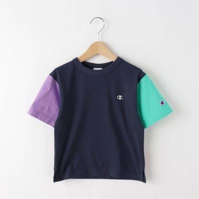 デッサン Dessin 【110-120cm】champion バイカラーTシャツ (ネイビー)