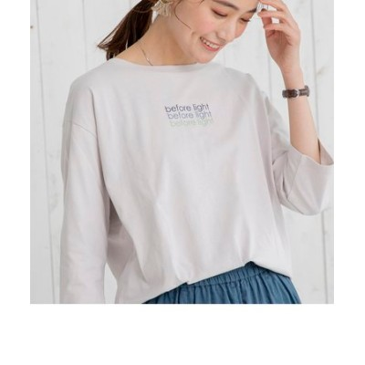 ロゴプリント7分袖Tシャツ