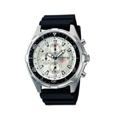 腕時計 カシオ Casio メンズ AMW-330-7AV 'クラシック' クロノグラフ ブラック ラバー 腕時計