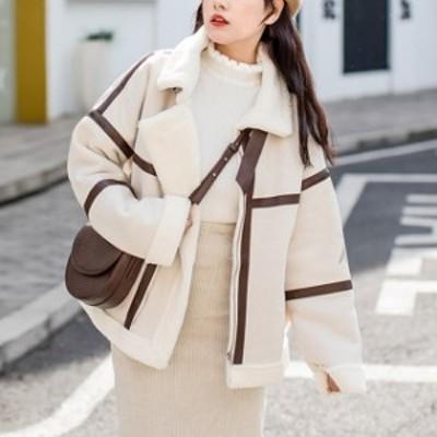 [レディース] フェイク ムートン ジャケット : コート ショート丈 韓国 韓流