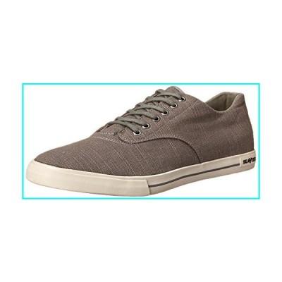 SeaVees Men's 08/63 Hermosa Plimsoll Core Tennis Shoe,Tin Grey Vintage Wash Linen,9.5 M US