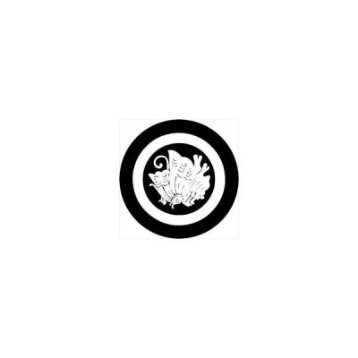 家紋シール 丸に揚羽紋 直径4cm 丸型 白紋 4枚セット KS44M-3583W
