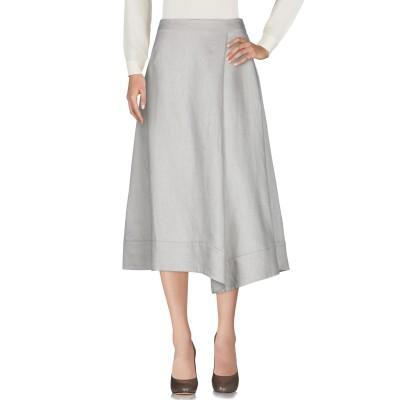レ コパン LES COPAINS 7分丈スカート ベージュ 40 麻 100% 7分丈スカート