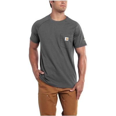 (取寄)カーハート メンズ フォース コットン デルモント ショートスリーブ Tシャツ Carhartt Men's Force Cotton Delmont SS T-Shirt Carbon Heather