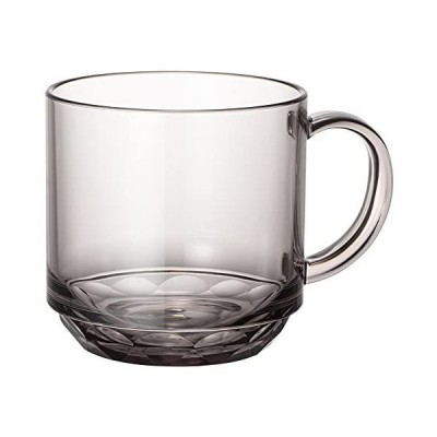 マグカップ コップ コーヒーカップ スモーク グレー 340ml 食洗機対応 キャンプ向け 耐熱100度 割れにくい グランピング トライタ