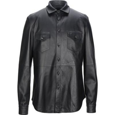 AFG' 1972 メンズ シャツ トップス Solid Color Shirt Black