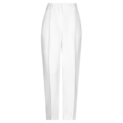 ヌメロ ヴェントゥーノ N°21 パンツ ホワイト 38 アセテート 50% / レーヨン 50% パンツ