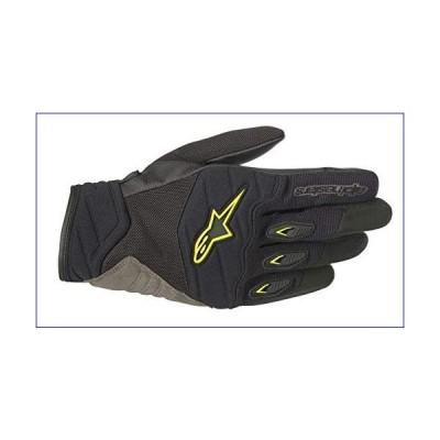【新品】Alpinestars Men's Shore Motorcycle Glove, Black/Yellow, Large(並行輸入品)
