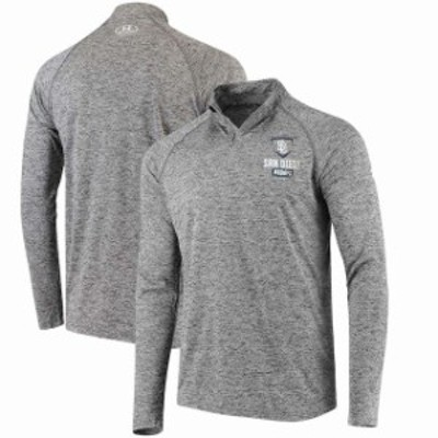 Under Armour アンダー アーマー アウターウェア ジャケット/アウター Under Armour San Diego Padres Charcoal Tech Quarter-Zip Perfor
