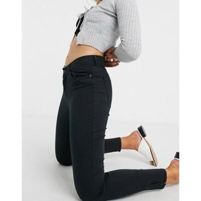 ヴェロモーダ レディース デニムパンツ ボトムス Vero Moda skinny jeans in black