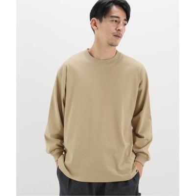 メンズ ベーセーストック 【newhattan/ニューハッタン】 basic ロングスリーブTシャツ ベージュ M