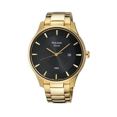 Pulsar Unisex Analogue Quartz Watch with Stainless Steel Plated Strap PX3102X1 並行輸入品