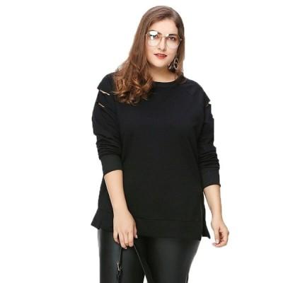 ゆったりサイズ ロンT 長袖 大きいサイズ レディース ファッション