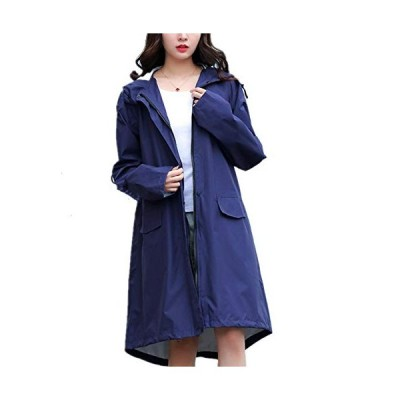 SCILLO レディース レインコート レインポンチョ 雨具 袖付き 綺麗 可愛い おしゃれ 軽量 撥水加工 防風 防水 防汚 通勤 通学 軽量 梅雨